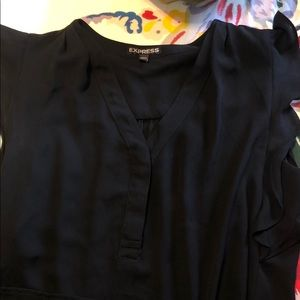 Express blouse w/ ruffles on the sleeves